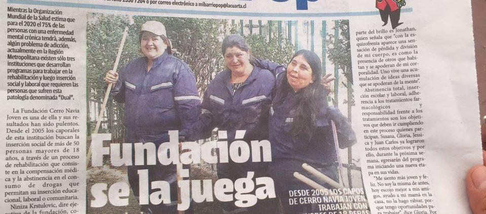 Diario La Cuarta destaca egreso de 4 adultos de la Fundación ...