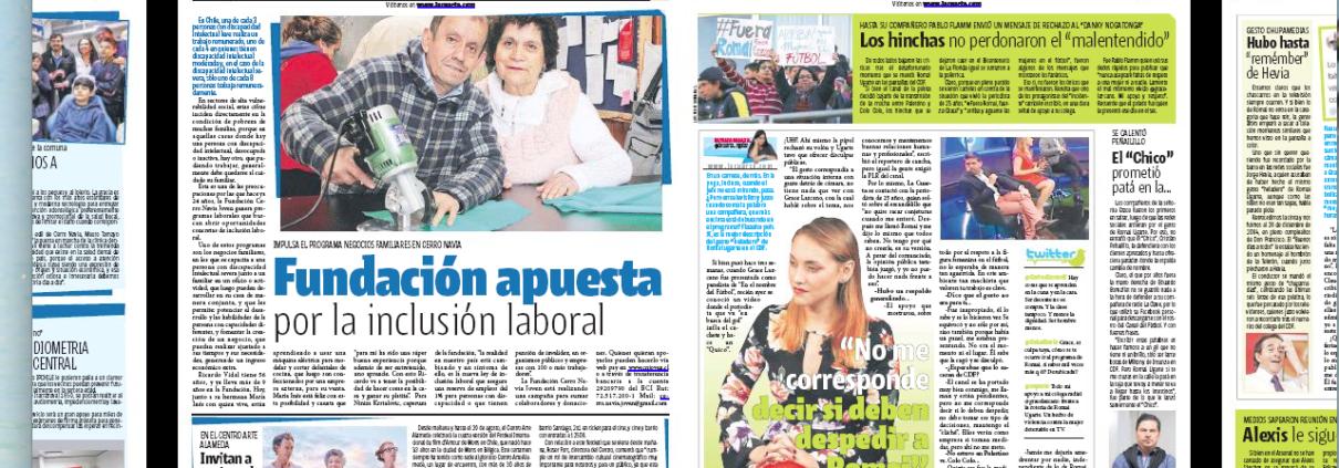 Diario La Cuarta se suma a nuestra campaña para discapacidad ...